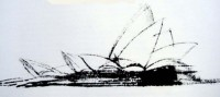 The competition winning drawing for the Opera House design