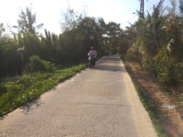When in Vietnam last year I was impressed by the well built and maintained road network designed for bikes & pedestrians.