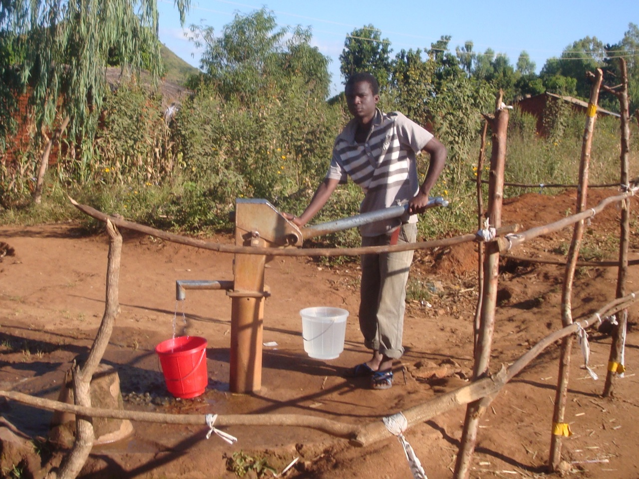 Putting in a bore & pump is the easy bit. What is harder is ensuring that people can access it, that there is a management committee of those that use it, that they can raise money for spare parts, that spare parts are available etc. etc.